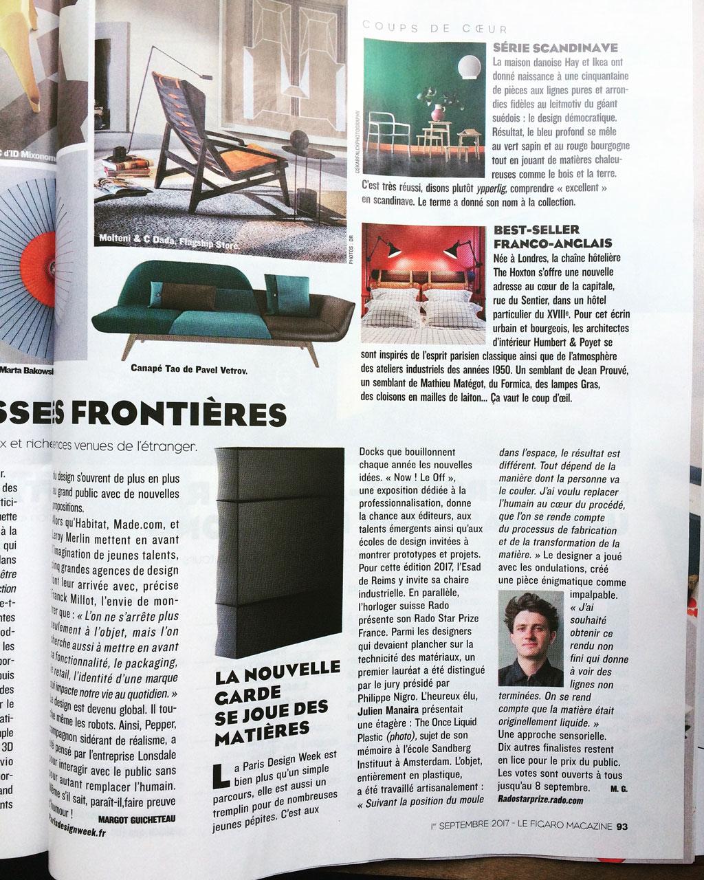 Maino Le Figaro Magazie 2017.09